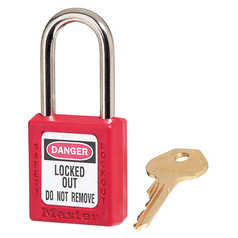 Master Lock Red Lock With 2 Keys