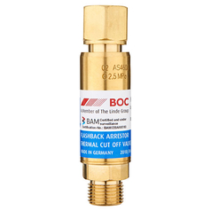 BOC Standard Flow Regulator End Oxygen Flashback Arrestor