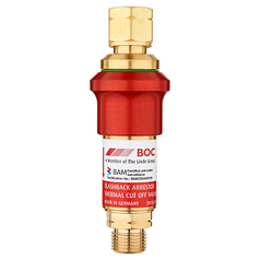BOC Resettable Standard Flow Regulator End Fuel Gas Flashback Arrestor