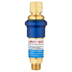 BOC Resettable Standard Flow Regulator End Oxygen Flashback Arrestor