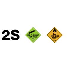 2S Dangerous Goods Diamonds Sign