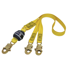 DBI-Sala Force2™ Shock Absorbing Webbing Lanyard - Double Tail