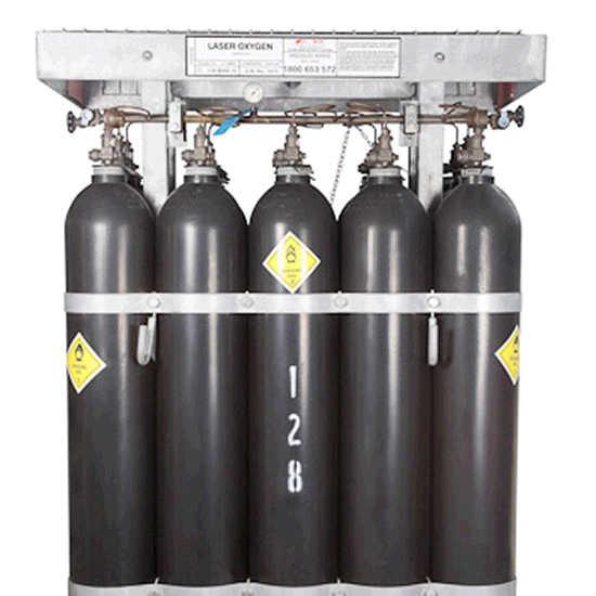 Oxygen Laser Grade Cylinder Pack MAN15 Size   BOC Gas