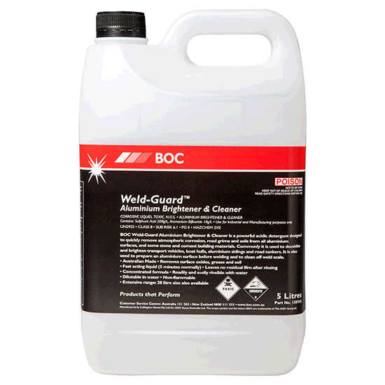 BOC Weld-Guard Aluminium Brightener and Cleaner | BOC Gas