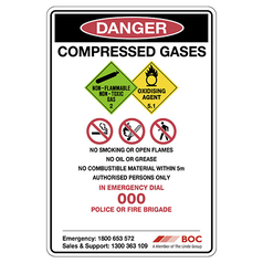 All in One Gas Storage Safety Sign