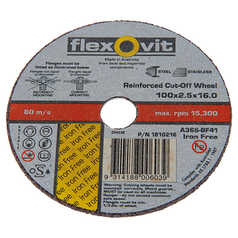 Flexovit FH38 Iron Free Inox Standard Cut-Off Wheel