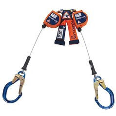 DBI-Sala Nano-Lok™ LE Twin Leg Quick Connect Self Retracting Lifeline - Cable