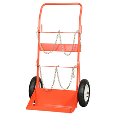 BOC Twin G Size Cylinder Trolley with Pneumatic Wheels