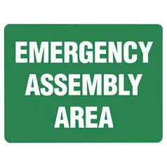 Uniform Safety Emergency Assembly Area Sign