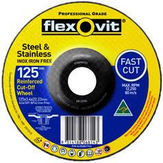 Flexovit Inox Iron Free Reinforced Cutting Disc