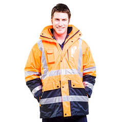 ESCAPE Hi-Vis Four Seasons 4-in-1 Jacket with Reflective Tape