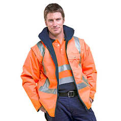 ESCAPE Hi-Vis Valley Jacket with Reflective Tape