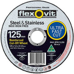 Flexovit A46T Ultra Thin Mega Inox Premium Cut-Off Wheel