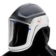 3M Versaflo M-407 Faceshield Safety Helmet Coated Visor