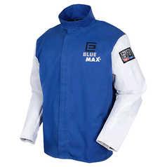 Elliotts Blue Max Proban Welders Jacket With Grain Leather Sleeves