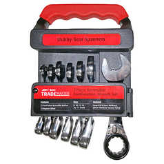 BOC 7 Piece Reversible Ratchet Stubby Wrench Set