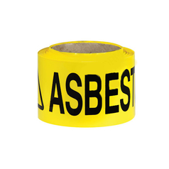 Uniform Safety Yellow ASBESTOS Barrier Tape