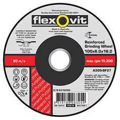 Flexovit AS30 Metal Depressed Centre Grinding Wheel