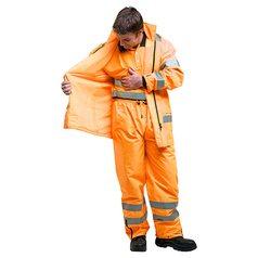 ESCAPE Hi-Vis Isa Rain Jacket with Reflective Tape
