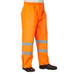 ESCAPE Hi-Vis Fire Retardant Anti-Static Isa Rain Pants with Reflective Tape