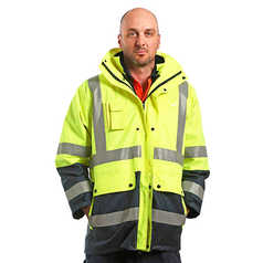 ESCAPE Hi-Vis Fire Retardant 4-in-1 Four Seasons Jacket with Reflective Tape