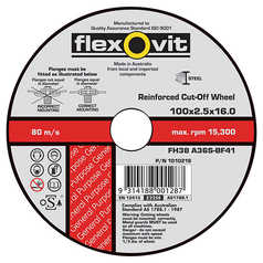 Flexovit FH38 Flat Metal Cut-Off Wheel