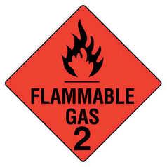 Uniform Safety Flammable Gas 2 Hazchem Sign
