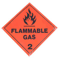 Flammable Gas 2 Hazchem Sign