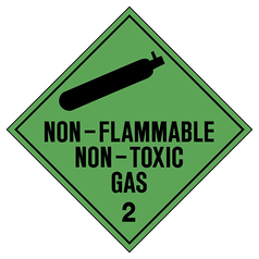 Non-Flammable, Non-Toxic Gas 2 Hazchem Sign