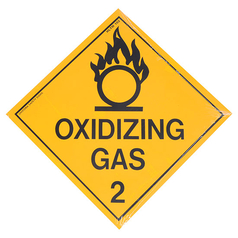 Oxidising Gas 2 Hazchem Sign