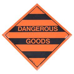 Uniform Safety Dangerous Goods Hazchem Sign