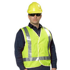 UMATTA Hi-Vis Polyester Safety Vest with Reflective Tape