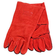 WELD GUARD Red Leather Welding Gauntlet - Single Pack